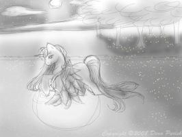 Sketch of Moonlight Water by FlyingPony
