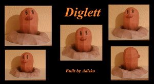 Diglett Paper Pokemon by Adisko