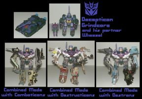 Decepticon Grindcore and his partner Wheezel by MCsaurus