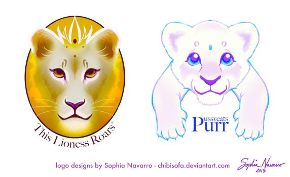 This Lioness Roars commissioned logos by ChibiSofa