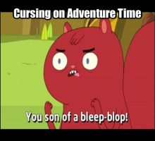 Adventure Time Cursing by dinochickrox