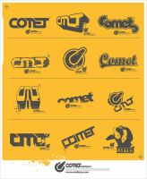 comet logotypes by oxidizzy