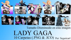 10 Carpetas Lady Gaga png and icon by:seguricarl by seguricarl