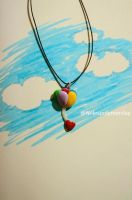 Love balloons polymer clay by Nelespolymerclay