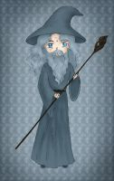 Gandalf - chibi version for A. by Lirulin-yirth