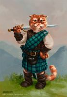 Angus the Scottish Fold Highlander by cat-on-mars