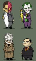 G's chibi Bat Villains set 6 by rickytherockstar