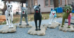 Ginga Figures: Villains by Bloodthirstwolf