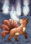 037 Vulpix (ACEO) by squizzlenut