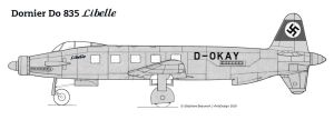 Dornier Do 835 Libelle by Bispro