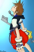 Sora Lineart Colored by Itachisgirl4ever
