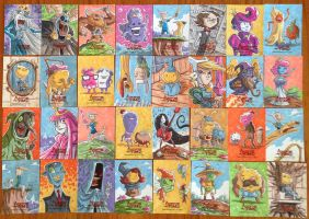 Adventure Time Sketch Cards by OtisFrampton