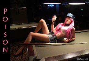 Poison Playing Pool - Street Fighter by DugFinn