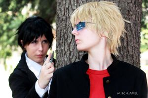 Shizuo, Izaya school version by MischievousBoyAilime