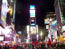 Times Square at Night. by fridaybecky