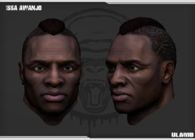 Concept 3D: Issa Awanjo, Zbrush Head Polypaint by Ulamb