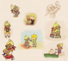 Link's Family Collage by BeagleTsuin