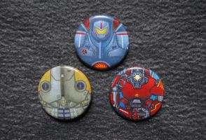 Pacific Rim Jaeger Buttons by pookat