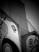 URBAN ABSTRACT ( BLACK AND WHITE + VIGNETTE ) by ANDYBURGESS