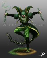 Gijinka: Serperior by RottenKrow