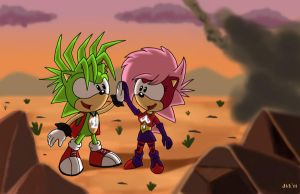 Sonia and Manic's Victory by Domestic-hedgehog