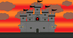 Bowser's Castle Outside View by Bowser14456