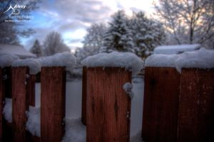 HDR Winter Fence by Nebey