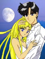 Sailor Moon - Usagi and Mamoru by Homework-Ate-Me