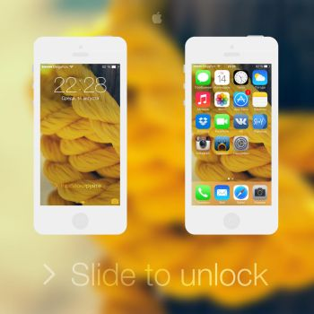 iOS 7 - Yellow by BesQ
