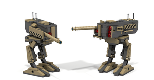 'Cinder Block' Lego Combat Walker by Pegasus047