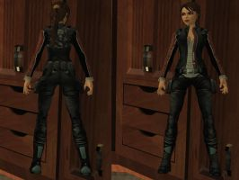 Lara Croft: biker costume by TanyaCroft