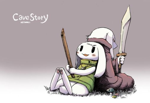 CaveStory Toroko and King by hi6sho