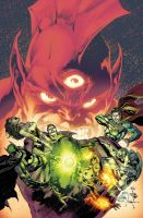 Justice League cover by Maiolo