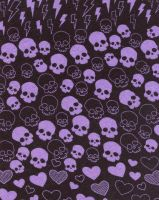 Little Skulls Fabric Scan by JucsticeStock