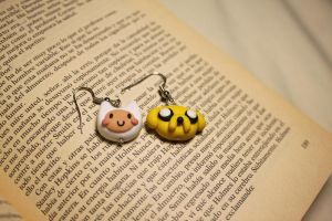 Finn And Jake Earrings by Nabila1790