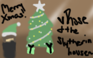 Merry X-Mas from the Slytherin by br0k3nrainb0w