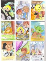 Star Wars Galactic Files Return Sketch Cards by JerryFleming