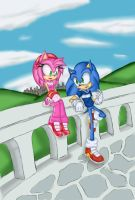 SonAmy Date by RX-BlackHowling