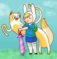 Fionna And Cake by Nero-TheDevilBringer