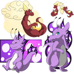 PKMNation [Payment] Look at those dragons by Aka-turtle