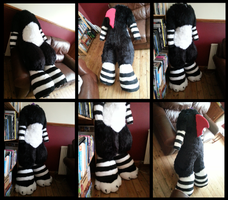 Scritch Bodysuit - on Duct-Tape Dummy by CuriousCreatures