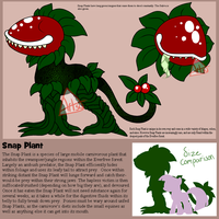 MLP Monsters Series -The Snap Plant- FOR SALE by Twisted-Severity