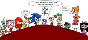 Meap, Team Sonic, and Team Phineas by RocketSonic