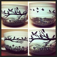 Blackbirds - Soup Mug for sale by InkyDreamz