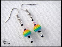 LGBT Rainbow Dangle Earrings by JRollendz