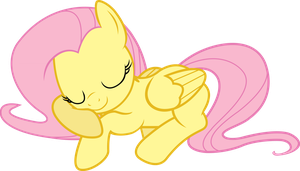 Sleepy Fluttershy by ThePoneSenpai