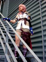 FFXIII Lightning - Watch out.. by christie-cosplay