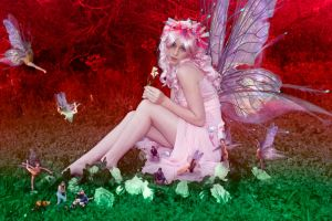 A pink fairy and her friends by BigA-nt