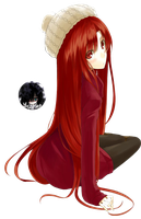 = Red Haired Girl Render = by Yhuurika