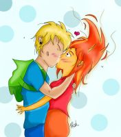 Finn and Flame Princess by MelanieBrown
